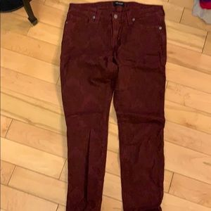 Big Star patterned red jeans
